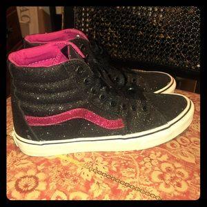 Vans Sk8-Hi Glitter Black/Pink shoes
